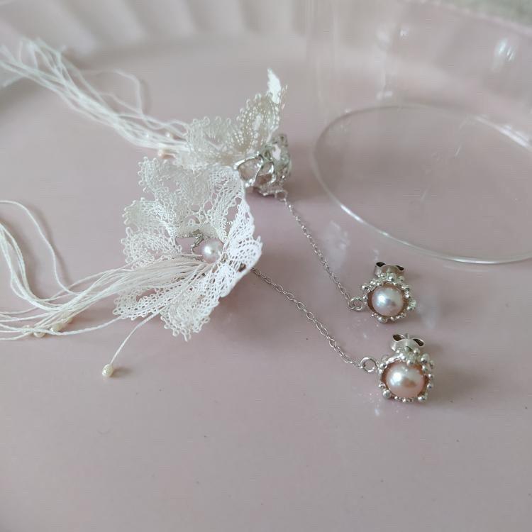 """Earrings """"Jasmine"""" Pink"""