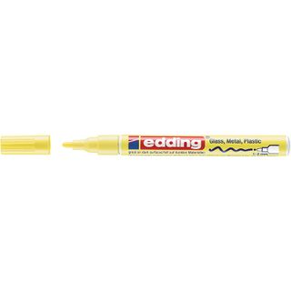 Edding / Marker varnish glossy, round nib, 1-2 mm Yellow pastel