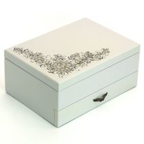 Craft / Jewelry box, wooden, with drawer, 250x180x110