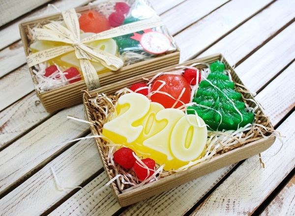 Set of handmade soap Fruity New Year