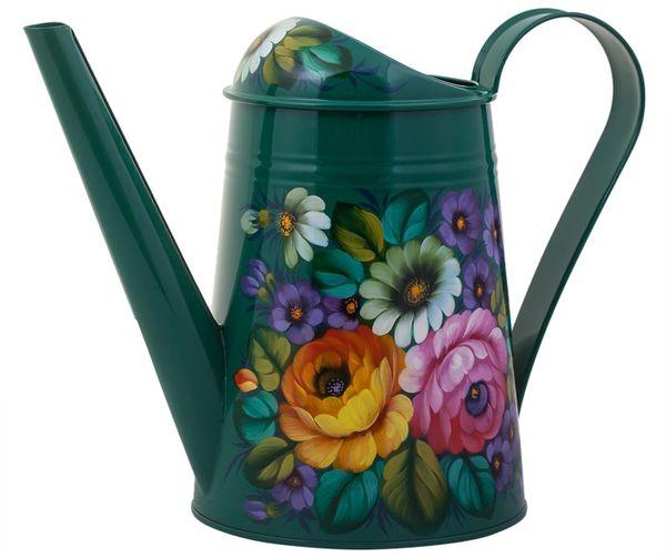 Zhostovo / Steel watering can, author Zhikhareva I.