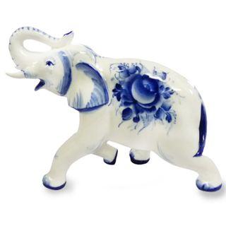 Sculpture Elephant No. 2 1st grade, Gzhel Porcelain factory