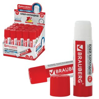 Glue stick BRAUBERG, 15 g