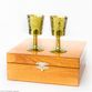 A set of zirconia glasses on the leg in a wooden gift box - view 1