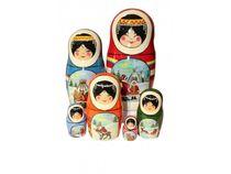 Matryoshka Severyanochka - matryoshka booklet, 5 dolls