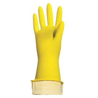 """LIMA / Latex household gloves """"Lux"""" REUSABLE, cotton dusting, dense, size S (small)"""