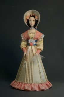 Doll gift porcelain. A young lady in a summer dress. 1830 St. Petersburg