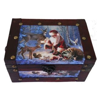 """New Year's gift """"Winter glade"""" chest, a set of sweets 450g."""