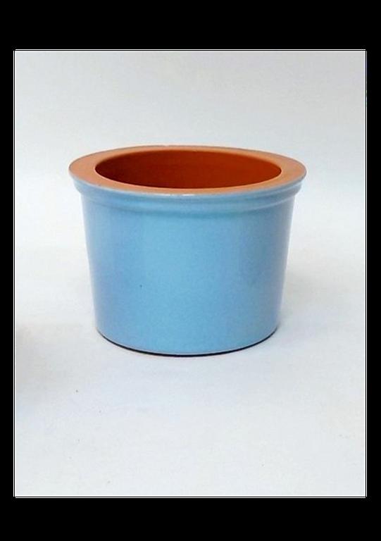 Vyatka ceramics / Set of 6 muffin tins, 0.2 l. (blue)
