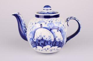 Dulevo porcelain / Teapot 1400 ml Amber Zimushka
