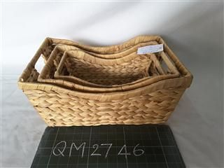 Wicker basket with handles, 3 pcs.