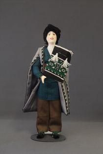 Doll gift porcelain. Shamakhi lips. Russia. Azerbaijani male costume. Late 19th - early 20th century.