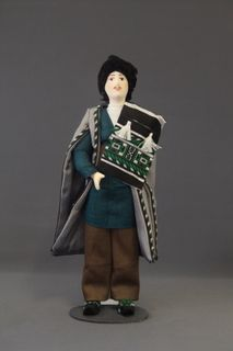 Doll gift porcelain. Shamakhi lips. Russia. Azerbaijani male costume. Late 19th - early 20th century.
