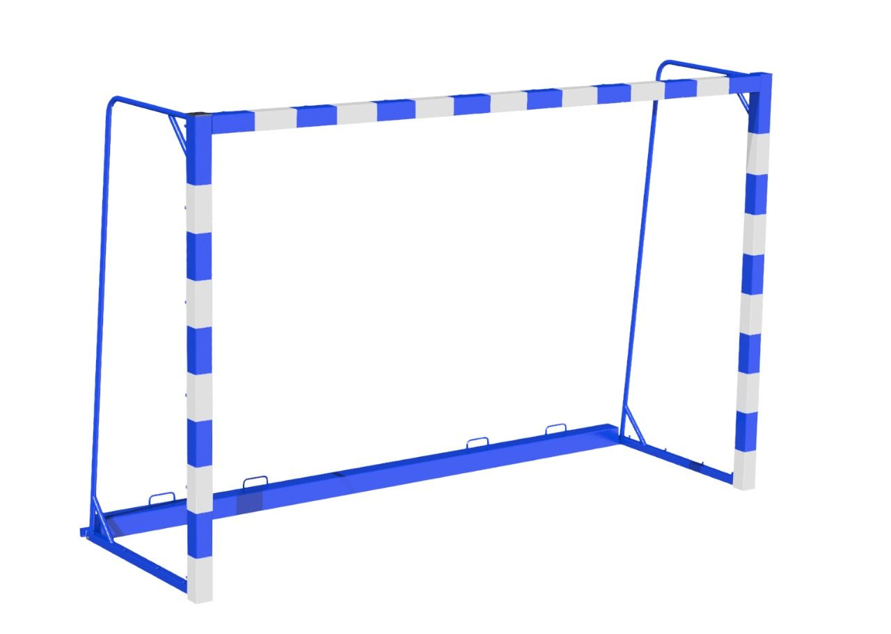 MB Barbell / Outdoor football and handball goal, free-standing, size 3x2 m (complete with counterweight and net)