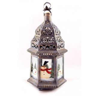 """New Year's gift """"New Year's"""" candlestick-lantern + a set of sweets 300g."""