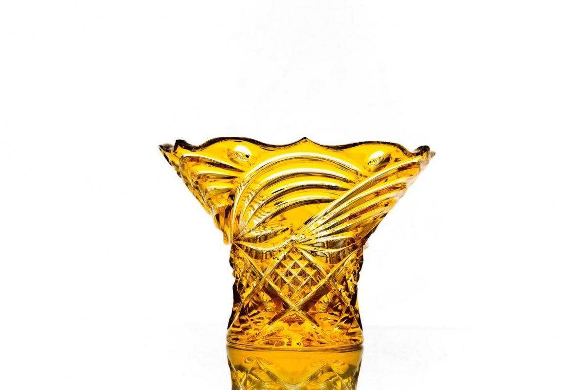 """Crystal vase for candies """"Assorted"""" orange"""