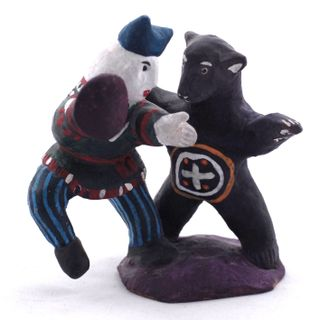 Kargopol clay toys clown bear