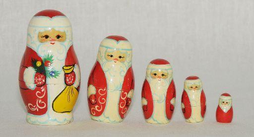 Vyatka souvenir / Matryoshka 'Santa Claus', 5 ave.
