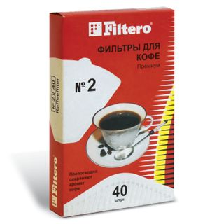 FILTERO PREMIUM No.2 filter for coffee makers, paper, bleached, 40 pieces