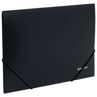 Folder on elastics BRAUBERG, standard, black, up to 300 sheets, 0.5 mm