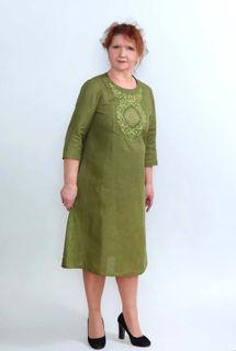 Dress womens linen 9-281