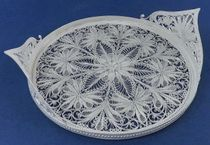 "Tray ""Evening"" silvering, Kazakovo Filigree"
