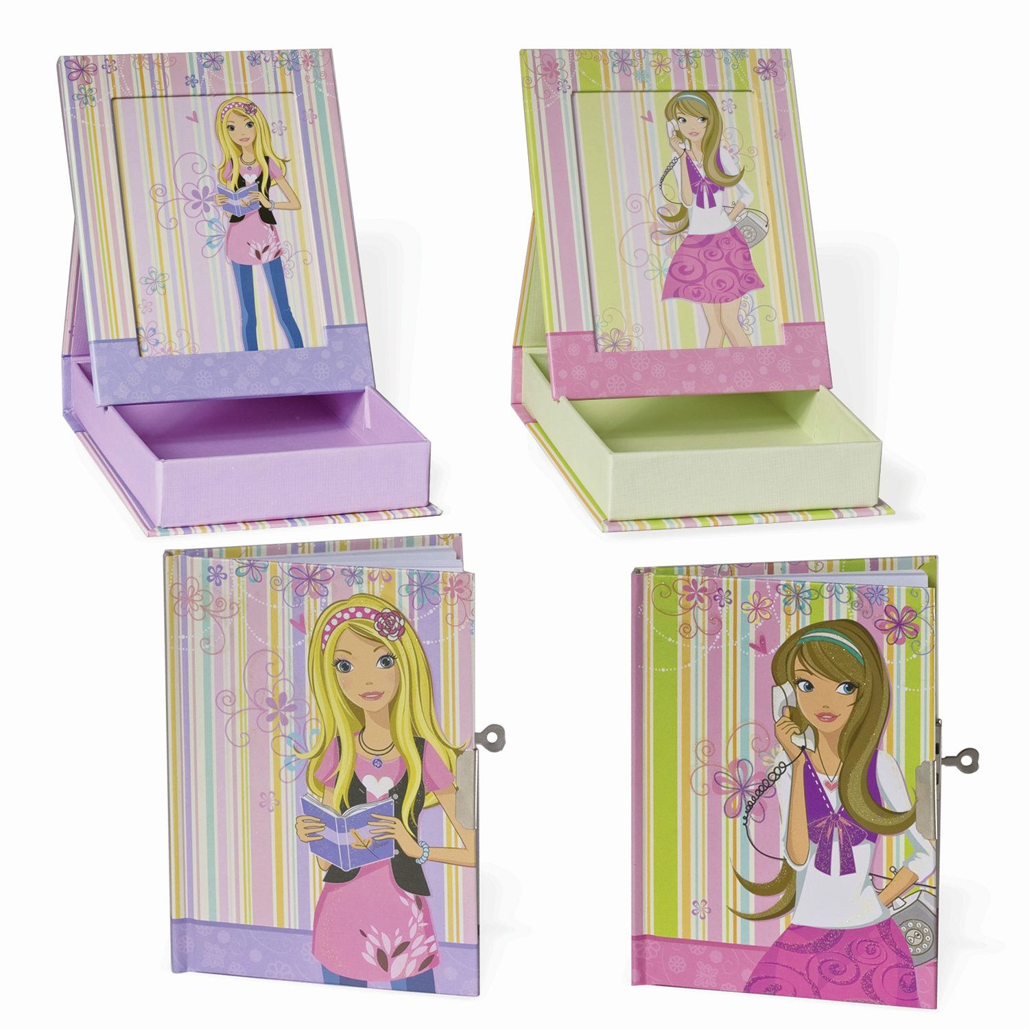 """BRAUBERG / Notebook """"Girl"""" SMALL FORMAT 56 sheets A6, 120x160 mm, hardcover, metal lock, sequins, photo frame, line"""