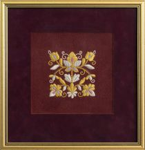 Panels hand embroidery 'Inspiration', Torzhokskiy seamstresses, Burgundy