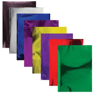 Colored paper A4 MIRROR, 8 sheets 8 colors, 80 g/m2, BRAUBERG