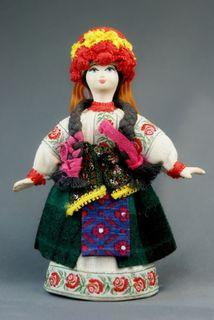 Doll gift porcelain. Ukraine. Women's traditional costume (styling). Ukraine.