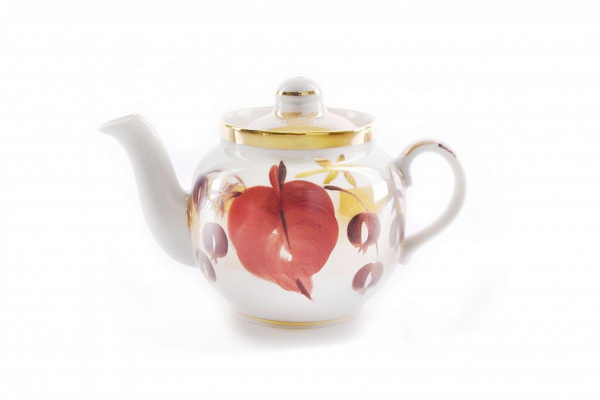 Dulevo porcelain / Teapot 350 ml Amber Autumn leaf