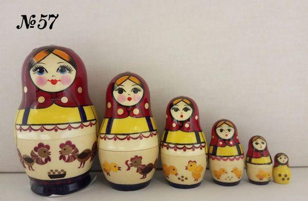 Vyatka souvenir / Author's inlaid matryoshka 6 ave.