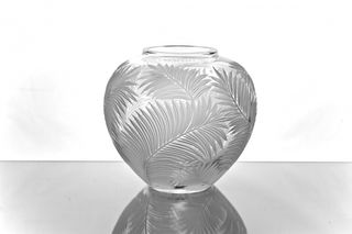 "Crystal decorative vase ""Bohemia"" colorless"