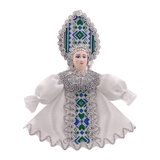 Christmas toy made of porcelain maiden 10 cm