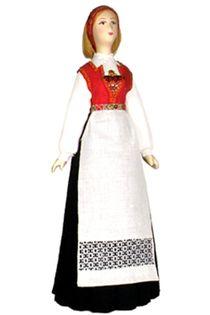 Doll gift. Norwegian women's costume.