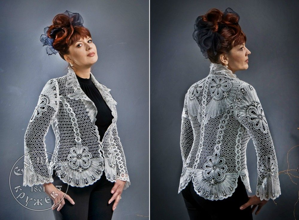 Yelets lace / Women's lace jacket 14-12