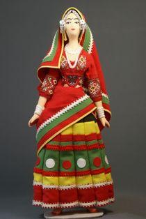 Doll gift. Women's festive costume, India