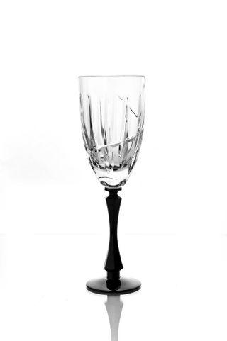 Set of crystal glasses for white wine