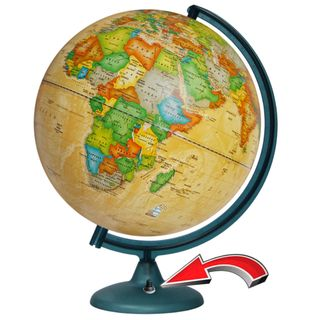 """Political globe """"Retro Alexander"""" illuminated from batteries (batteries not included)"""