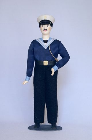 Doll gift. Boatswain. The military uniform. The beginning of the 20th century. Russia.