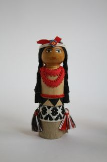 Doll gift. The Indian in the festive clothing of the 20th century. USA.