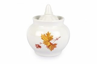 Dulevo porcelain / Sugar bowl 600 ml Pomegranate Maple economy