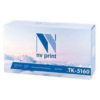 Toner cartridge NV PRINT (NV-TK-5160C) for KYOCERA ECOSYS P7040cdn, cyan, 12,000 pages.