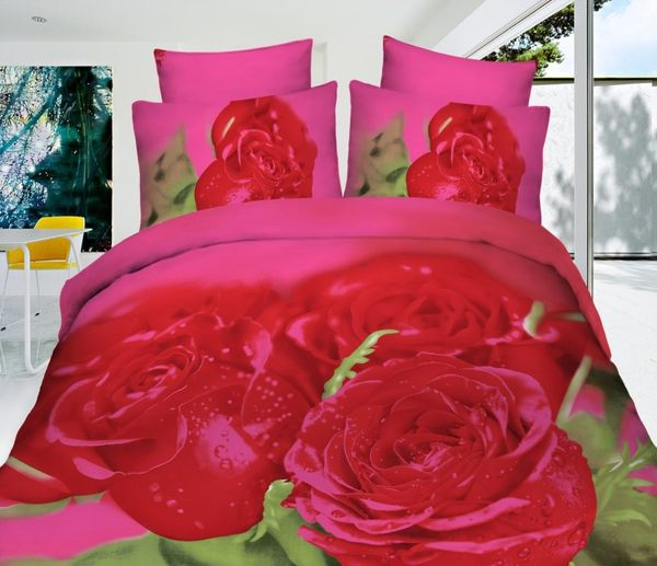Satin bed linen 3D chic