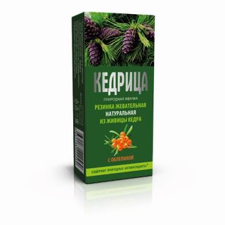 "Natural chewing gum ""Smoka cedar"" Kedritsa with sea-buckthorn """