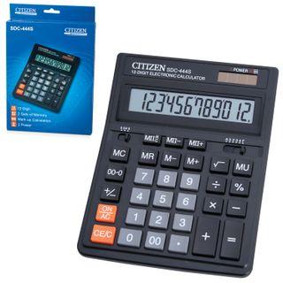 Desktop calculator CITIZEN SDC-444S (199х153 mm), 12 digits, dual power supply
