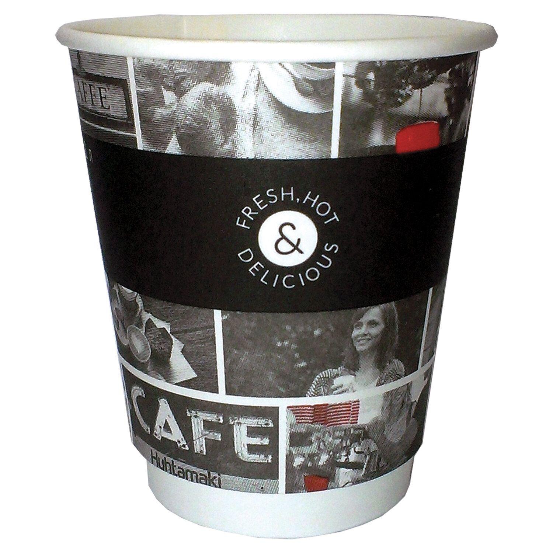 HUHTAMAKI / Disposable cups 200 ml, single-layer paper, color printing, cold / hot, SET 26 pcs.