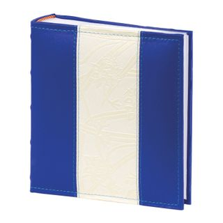 BRAUBERG photo album for 200 photos 10x15 cm, under the skin, page, paper, box, blue with white