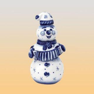 "Damask ""Snowman with accordion"" Gzhel 0.5 l"