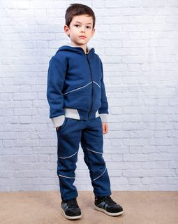 Jersey sports suit for the boy blue